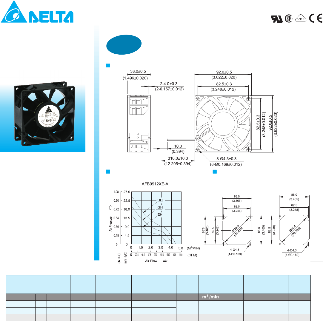 Metal Duct Universal Housing Only Delta Electronics SLM-AMTL Breez Slim Ventilation Fans
