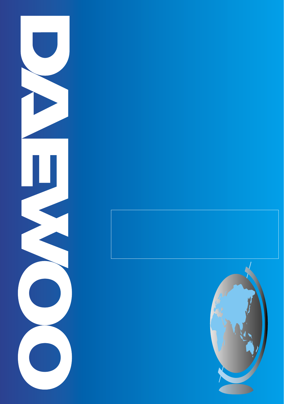 Daewoo Microwave Oven Microwave Oven User Guide