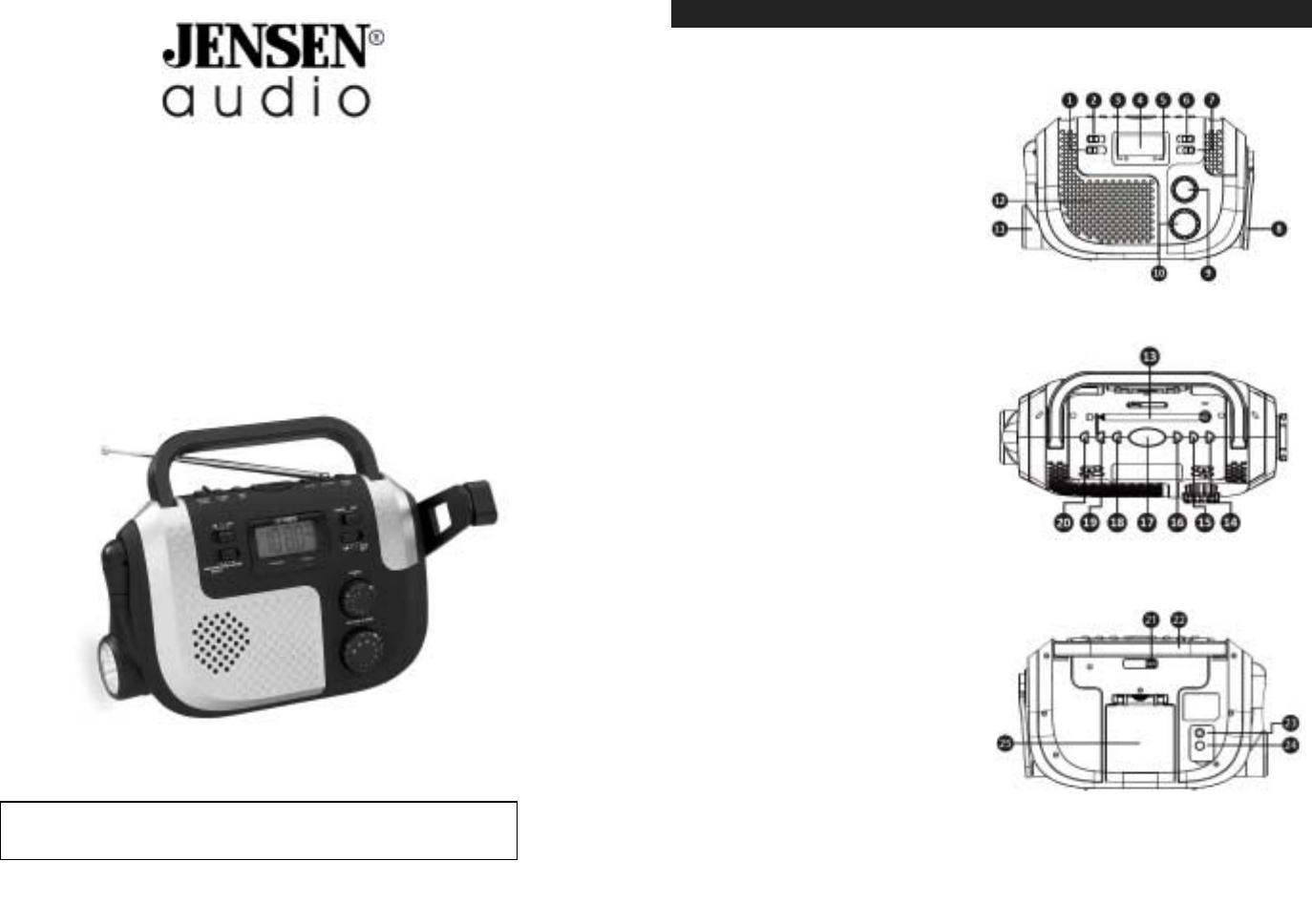 jensen clock radio mr 720 user guide. Black Bedroom Furniture Sets. Home Design Ideas