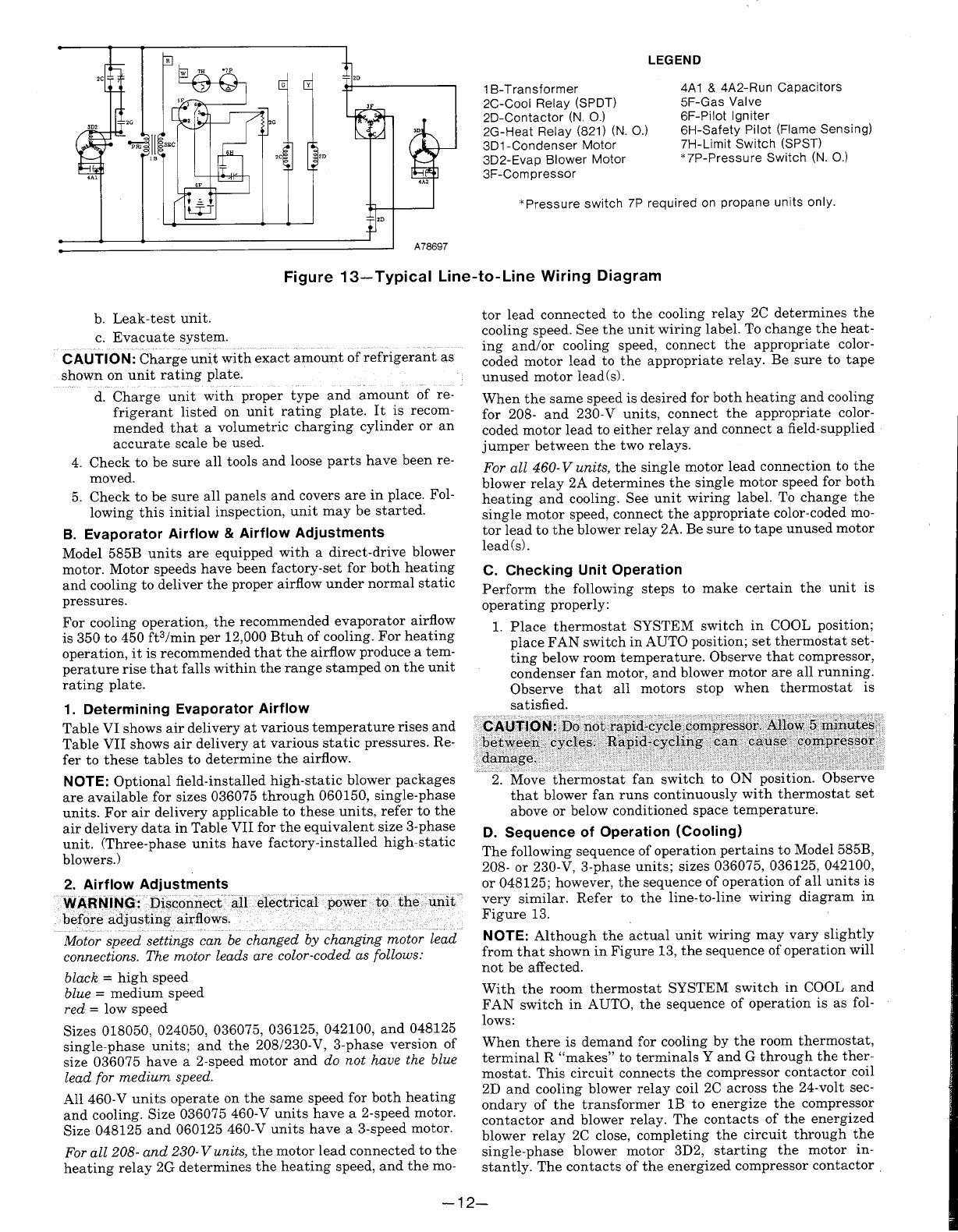 Page 12 of Bryant Gas Heater 585B User Guide | ManualsOnline.com  Relay Furnace Wiring Diagram on