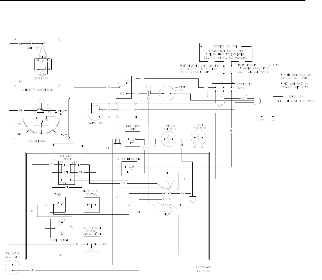 lce series wiring diagrams wire center u2022 rh poscaribe co Ice O Matic Problems Ice O Matic Problems