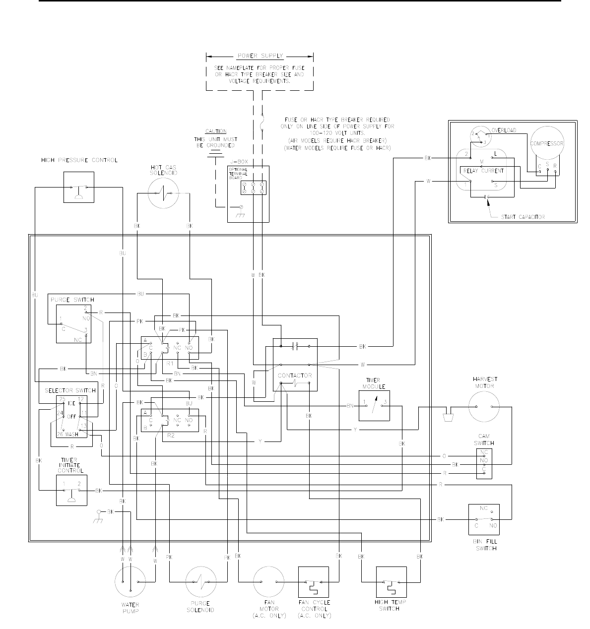Wiring Diagram On An Older Model Ice O Matic Free Download Page 138 Of Maker Ice0250 Series User Guide At