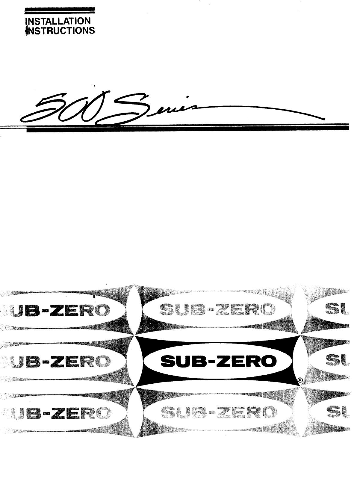 Sub Zero Refrigerator 542 User Guide Manualsonline Com