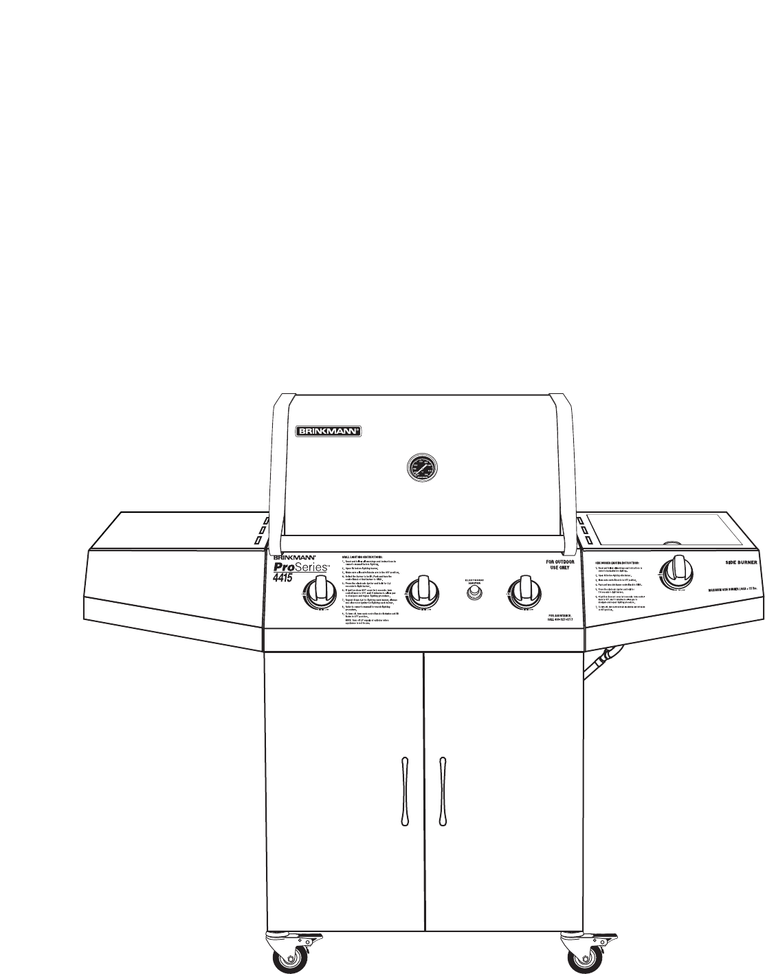 Page 32 of Brinkmann Gas Grill 4415 User Guide ...