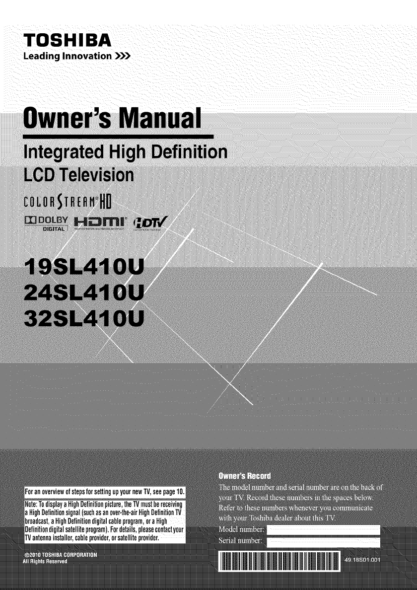 toshiba flat panel television 32sl410u user guide manualsonline com rh tv manualsonline com Toshiba E-Studio203sd Manuals toshiba 32sl400u manual