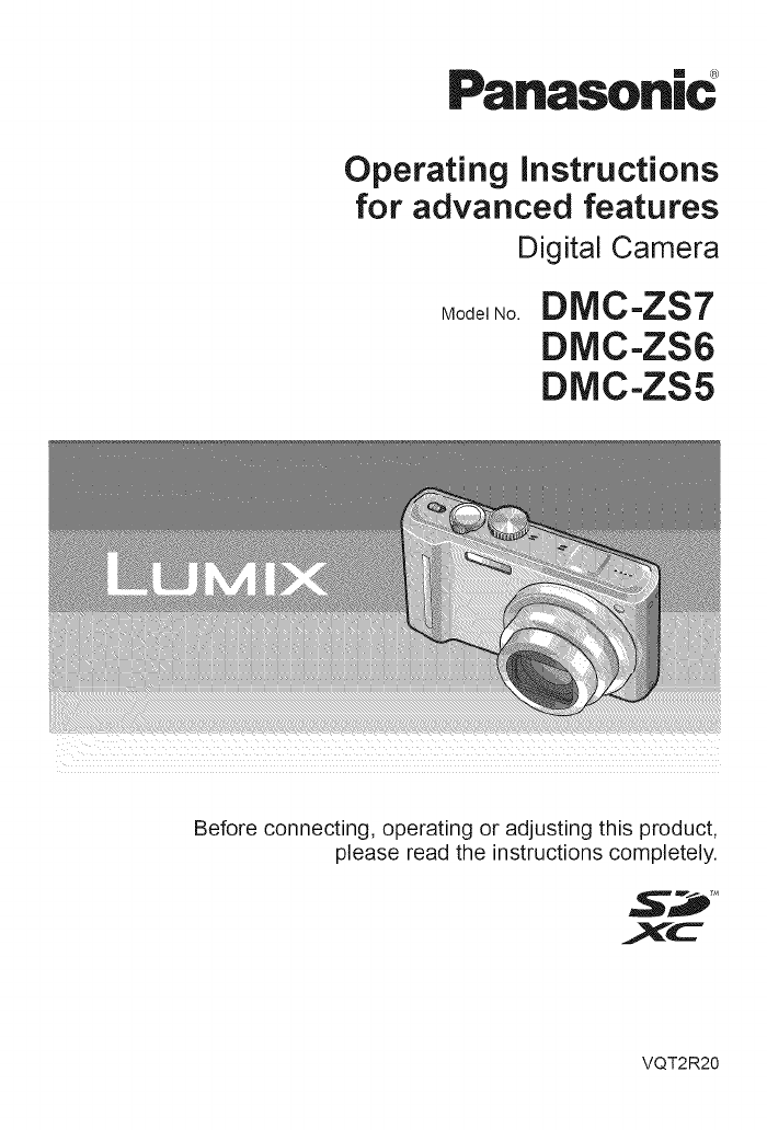 Panasonic Digital Camera Dmc Zs7 User Guide Manualsonline