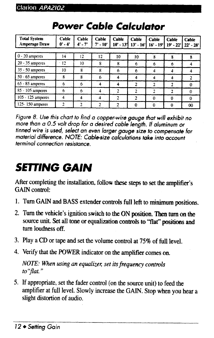 Page 13 of clarion car amplifier apa2102 user guide manualsonline of 18 greentooth Image collections