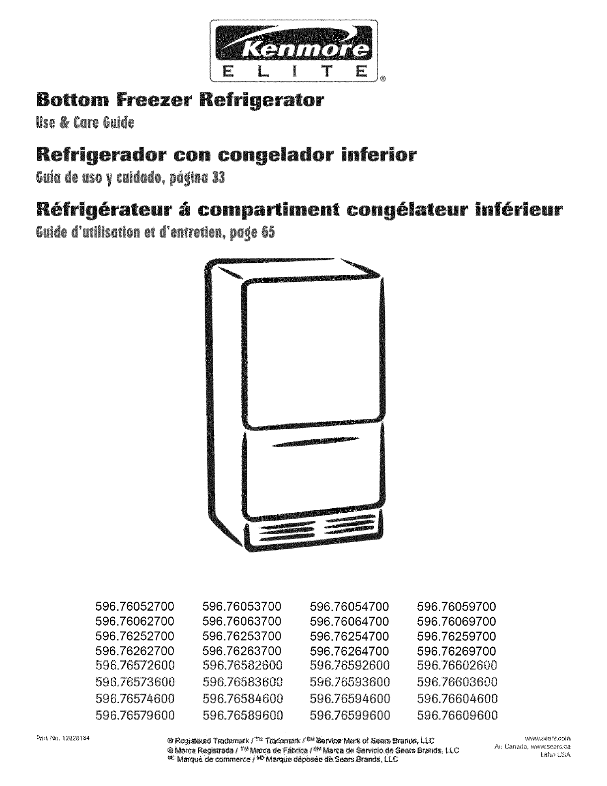 Sears Refrigerators Kenmore Elite Refrigerators: Kenmore Refrigerator Manual