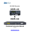 DVD Recorder HDR60