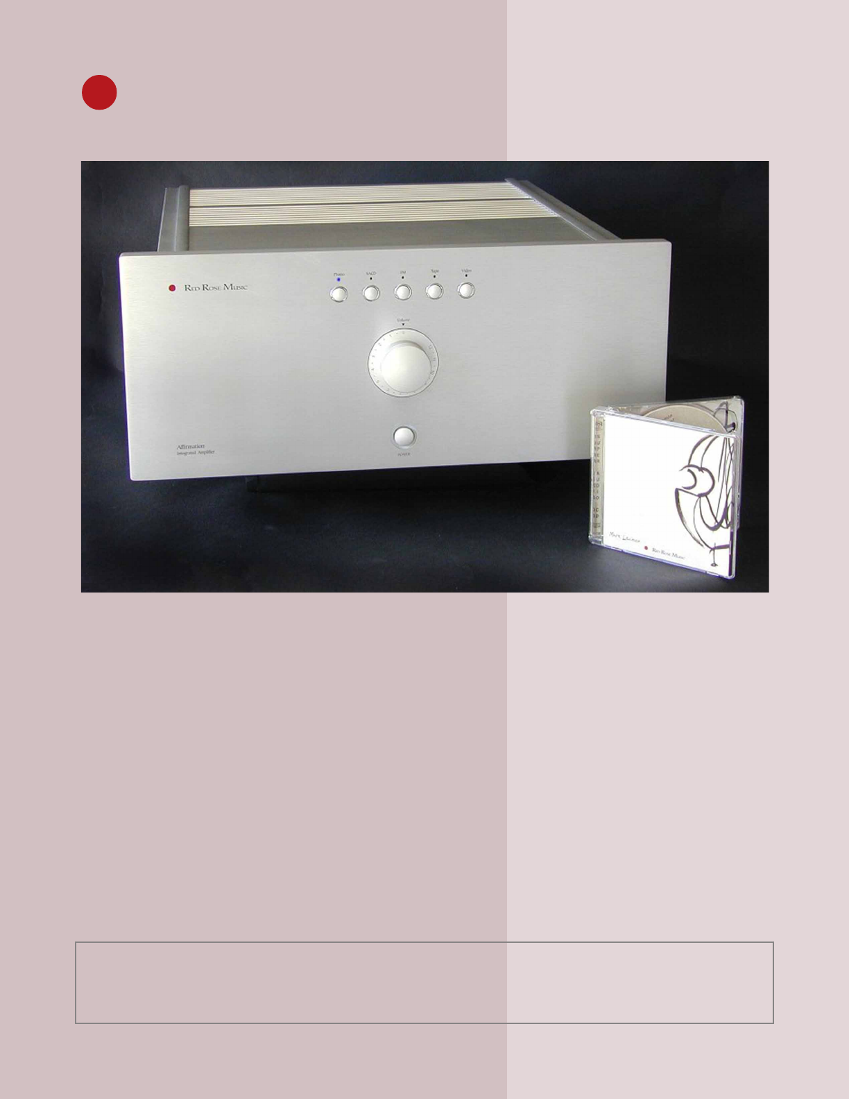 Red Rose Music Stereo Amplifier Affirmation User Guide