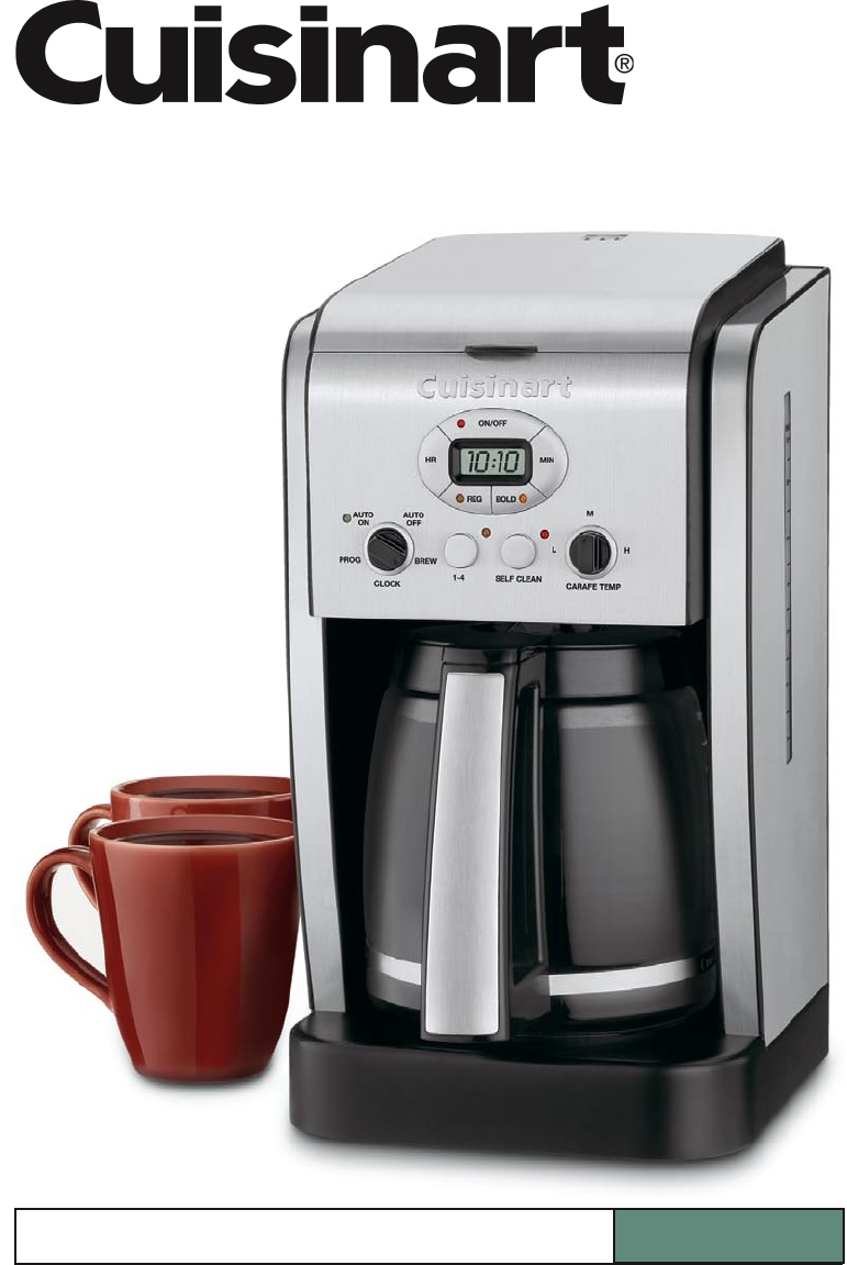 Cuisinart Coffeemaker DCC-2600 Series User Guide ManualsOnline.com