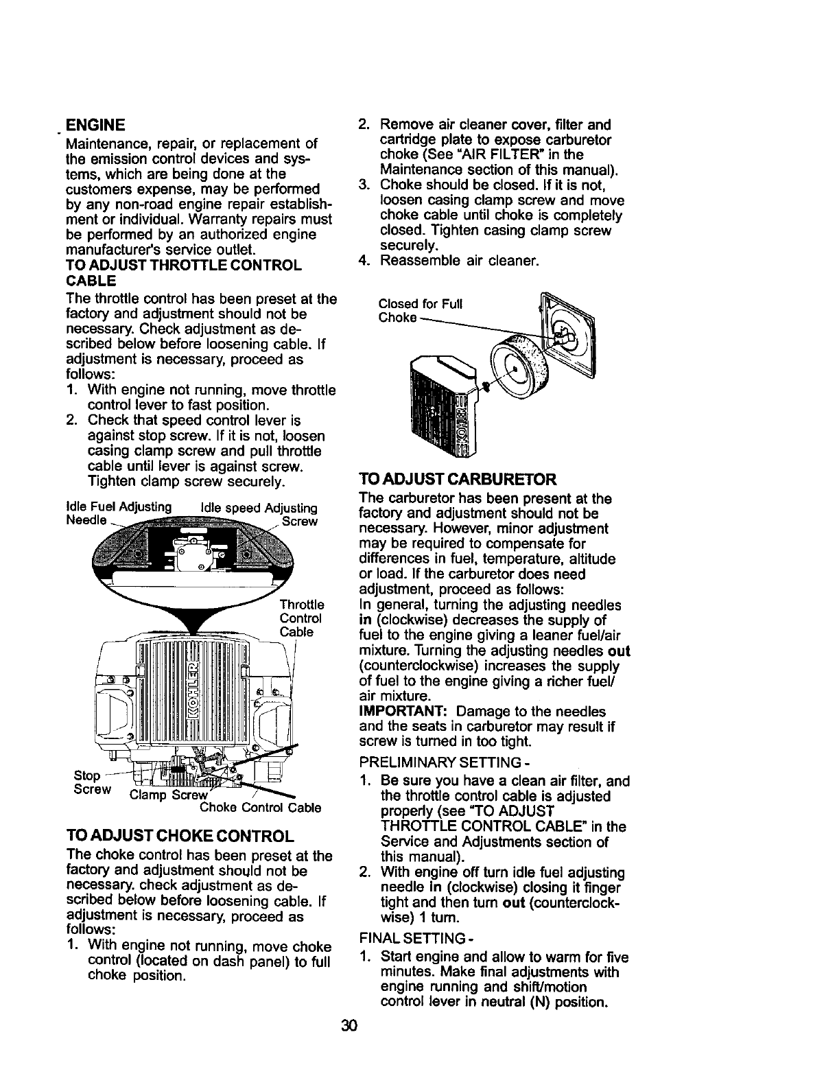 Page 30 Of Craftsman Lawn Mower 917 275021 User Guide