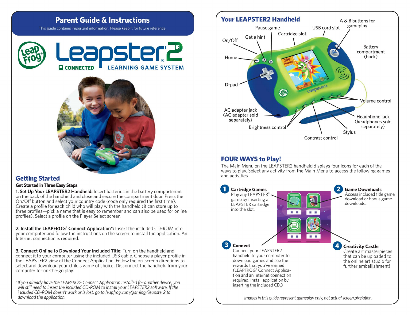 leapfrog leapster 2 instruction manual