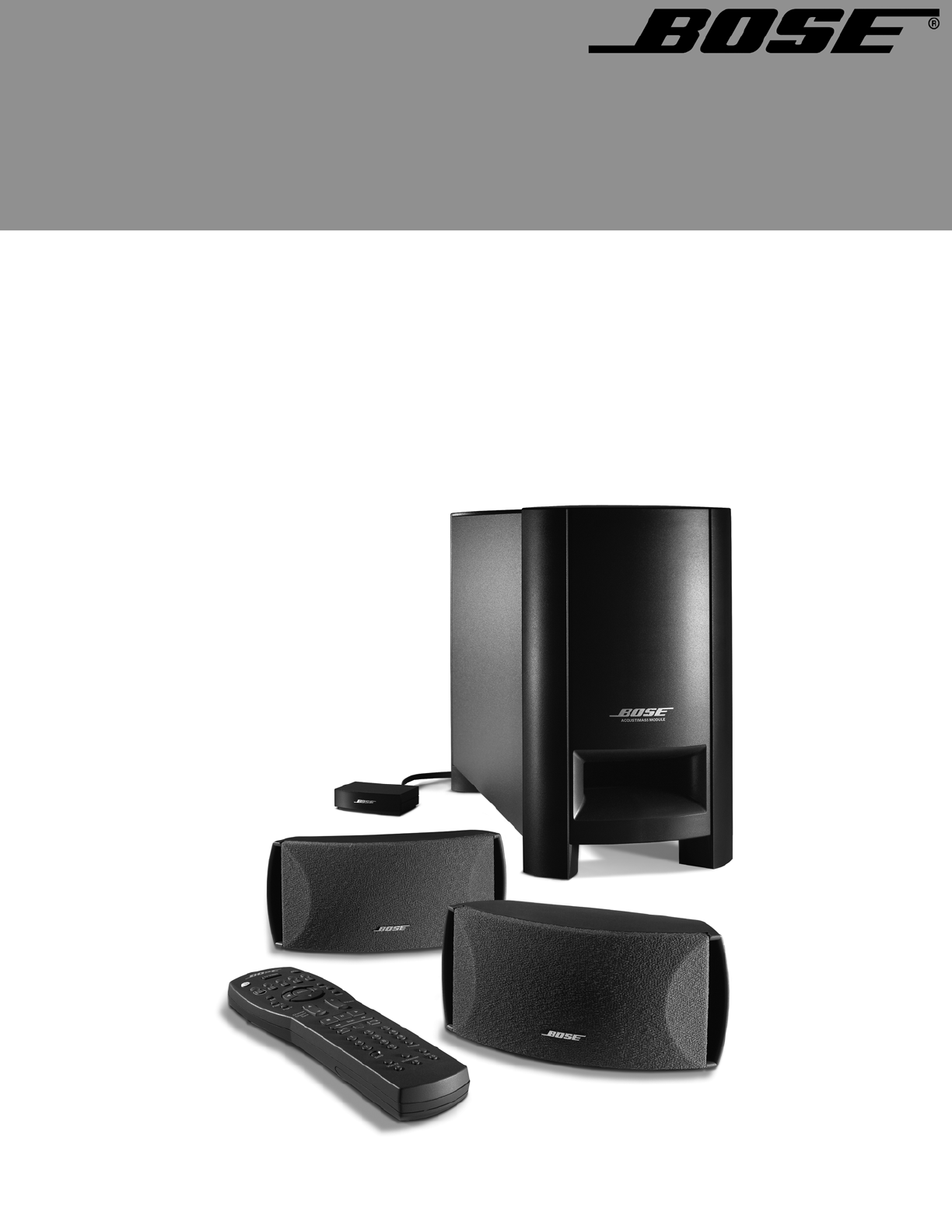 bose speaker system cinemate digital home theater speaker system user guide. Black Bedroom Furniture Sets. Home Design Ideas