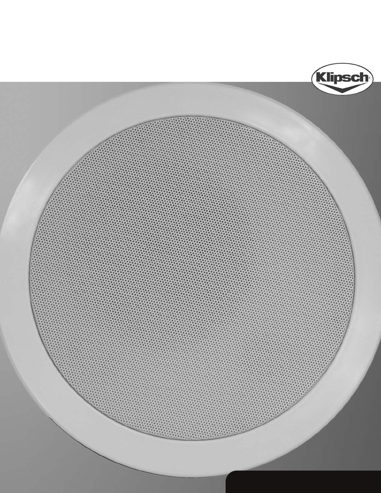 klipsch speaker ic 650 t user guide. Black Bedroom Furniture Sets. Home Design Ideas