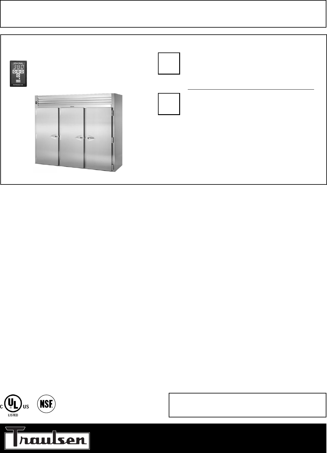 Traulsen refrigerator rri232lut fhs user guide manualsonline traulsen rri232lut fhs refrigerator user manual cheapraybanclubmaster Image collections