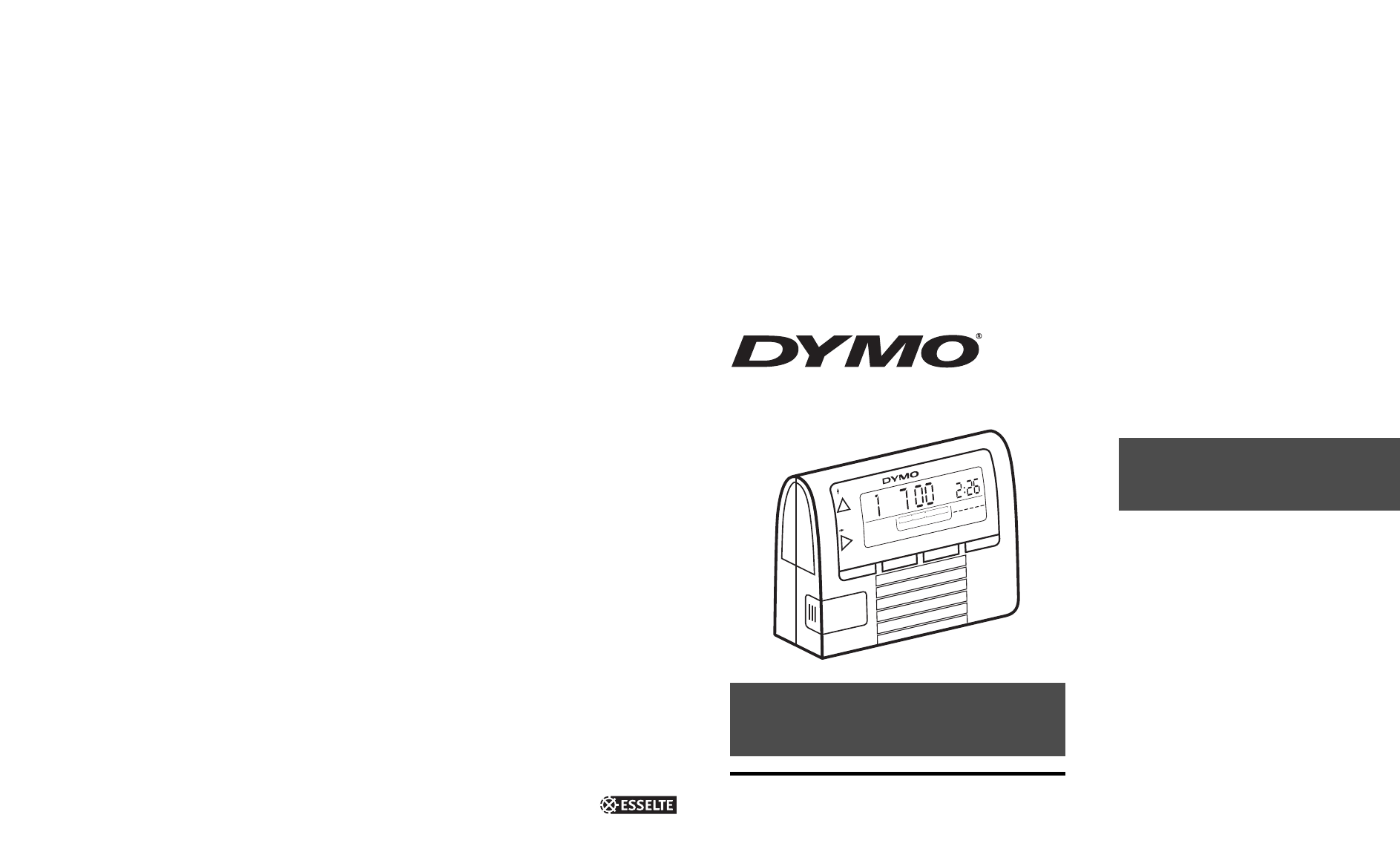 Dymo Printer Electronic Date Time Stamper User Guide