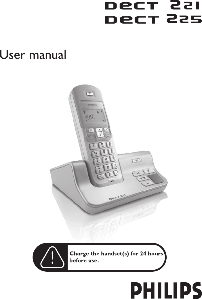 philips cordless telephone dect 221 user guide manualsonline com rh phone manualsonline com Philips Universal Remote User Manual Philips TV User Manual