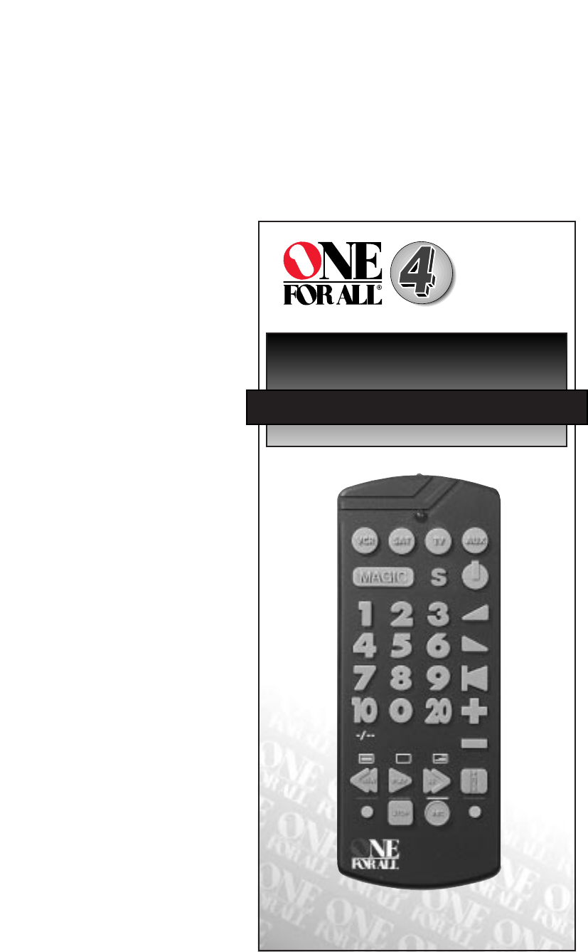 one for all remote manual pdf