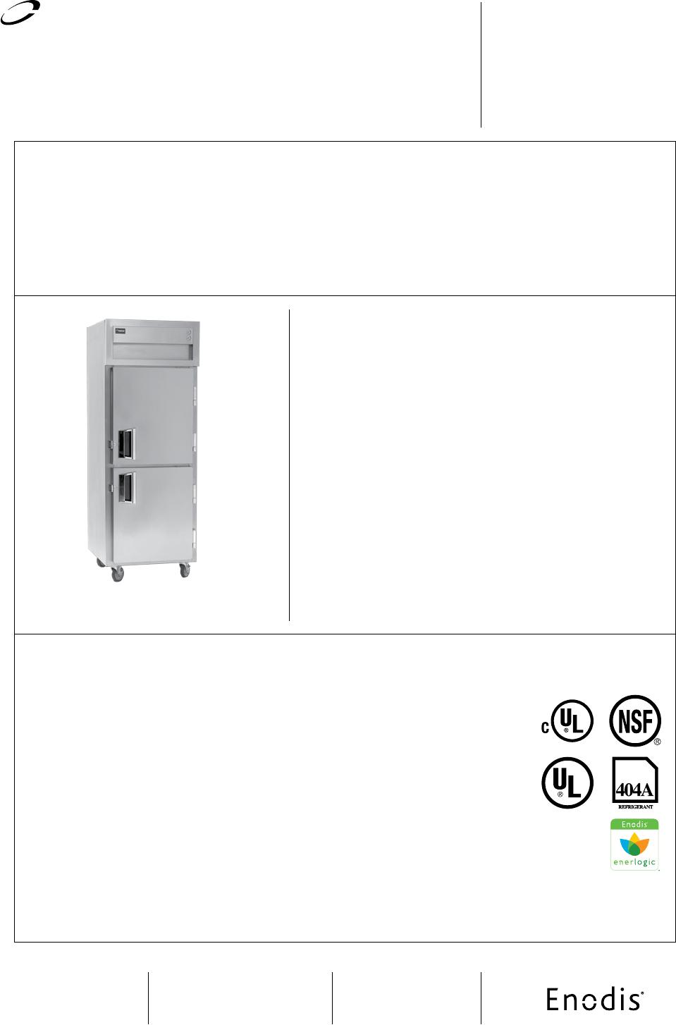 Delfield SSDBR1-SH Refrigerator User Manual