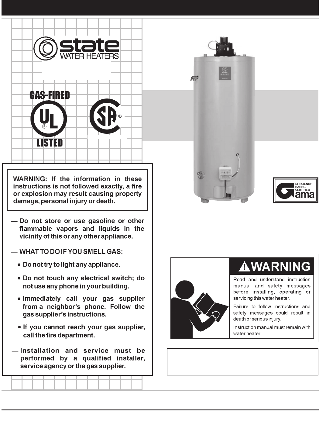 state industries water heater gs675yrvit user guide manualso