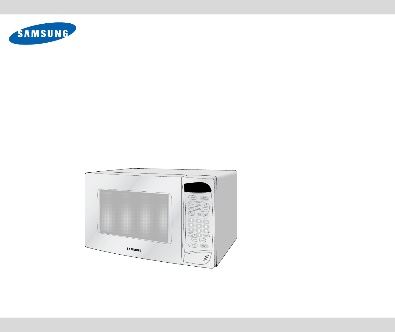 samsung microwave oven mw965wb user guide manualsonline com rh tv manualsonline com samsung microwave guide samsung microwave guide cover