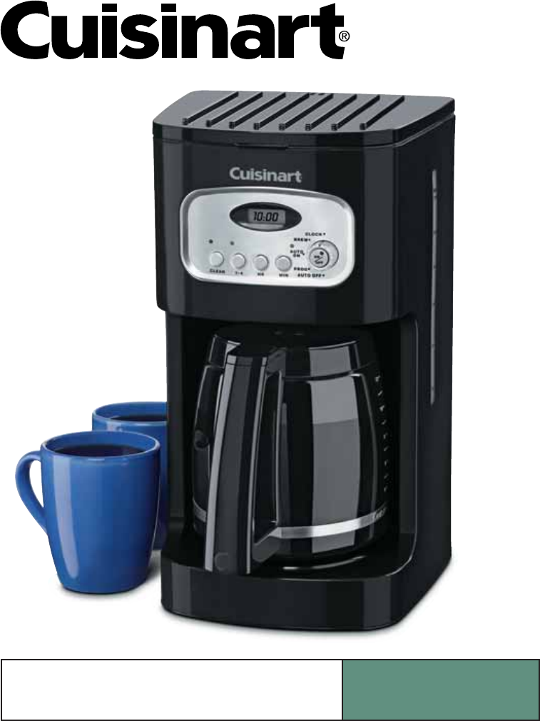 Cuisinart Coffee Maker Coffee Not Hot Enough : Cuisinart dcc-1100 manual