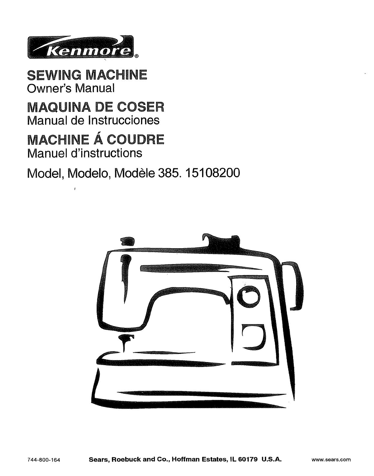 kenmore sewing machine 385 151082 user guide manualsonline com rh homeappliance manualsonline com kenmore sewing machine owner manual model 385 kenmore sewing machine 15516 instruction manual