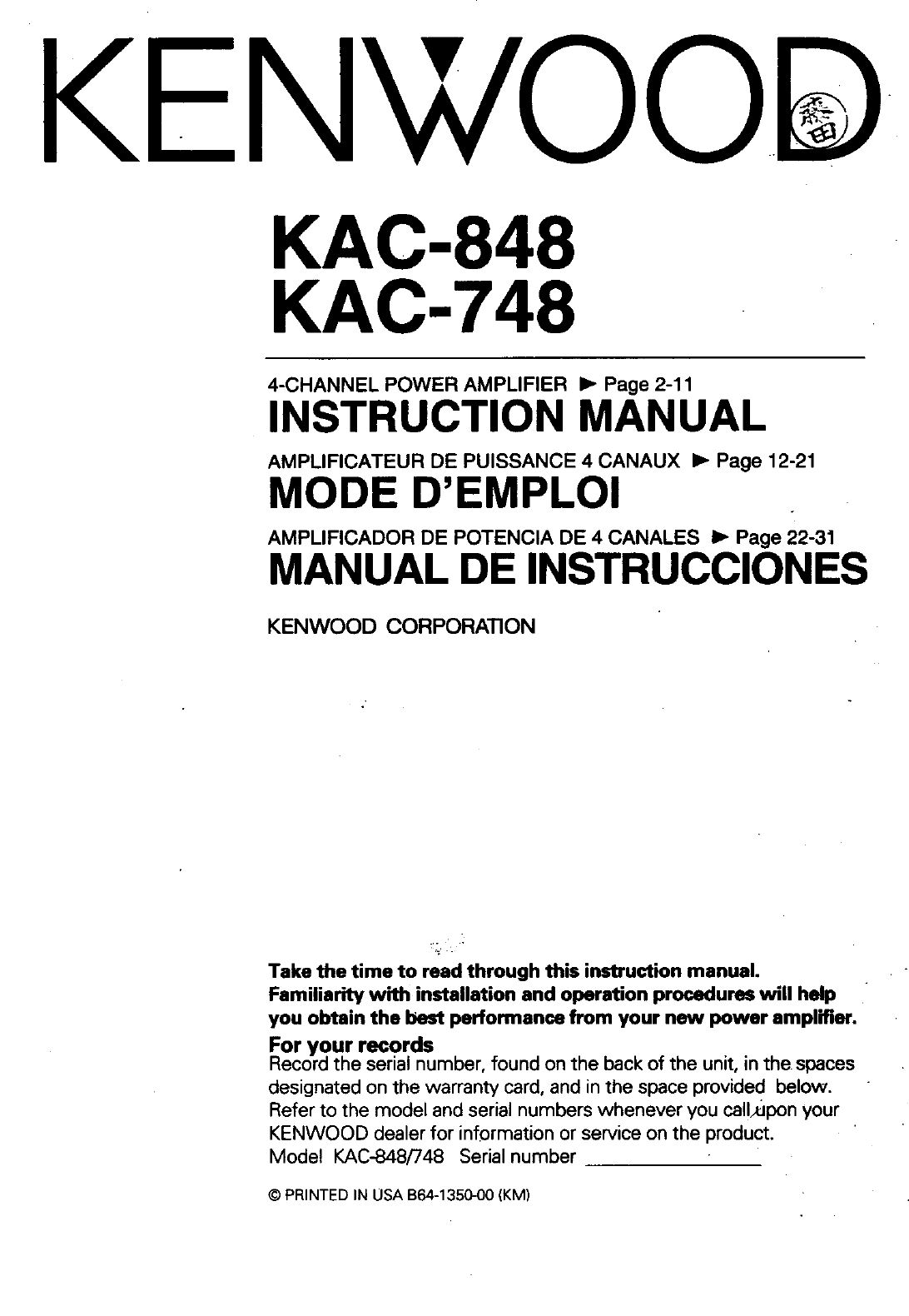 c00521f8 40ba 14a4 9156 d04f91b14e89 bg1 kenwood stereo amplifier kac 748 user guide manualsonline com kenwood kac 7201 wiring diagram at alyssarenee.co