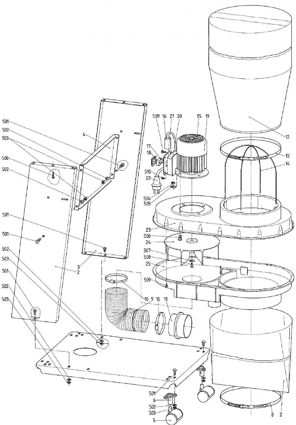Page 7 of Elektra Beckum Dust Collector SPA 1100 User Guide ...