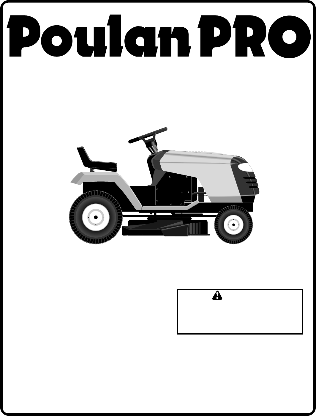 poulan lawn mower pr185h42std user guide manualsonline com rh powertool manualsonline com poulan pro riding mower service manual poulan riding lawn mower repair manual