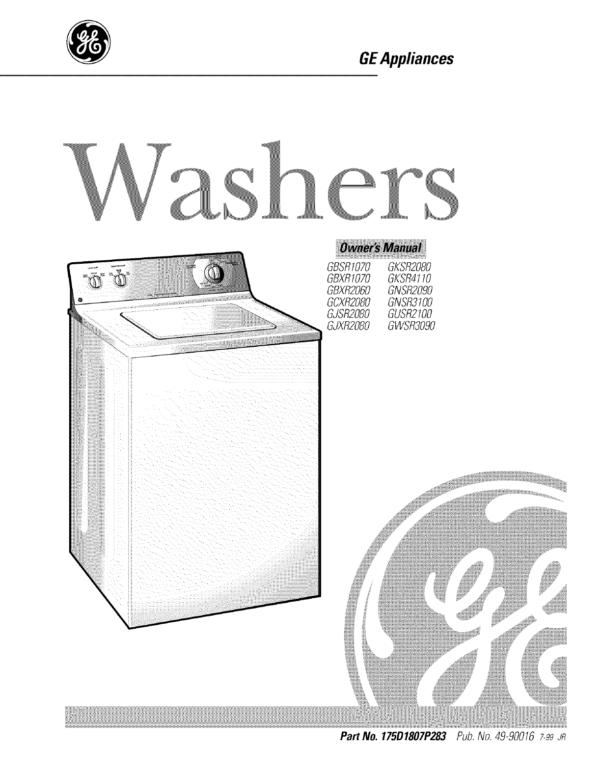 ge washer 175d1807p283 user guide. Black Bedroom Furniture Sets. Home Design Ideas