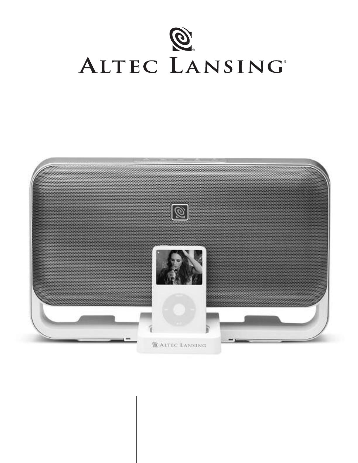 altec lansing portable speaker m602 user guide manualsonline com rh portablemedia manualsonline com Altec Lansing Speakers Altec Lansing A7