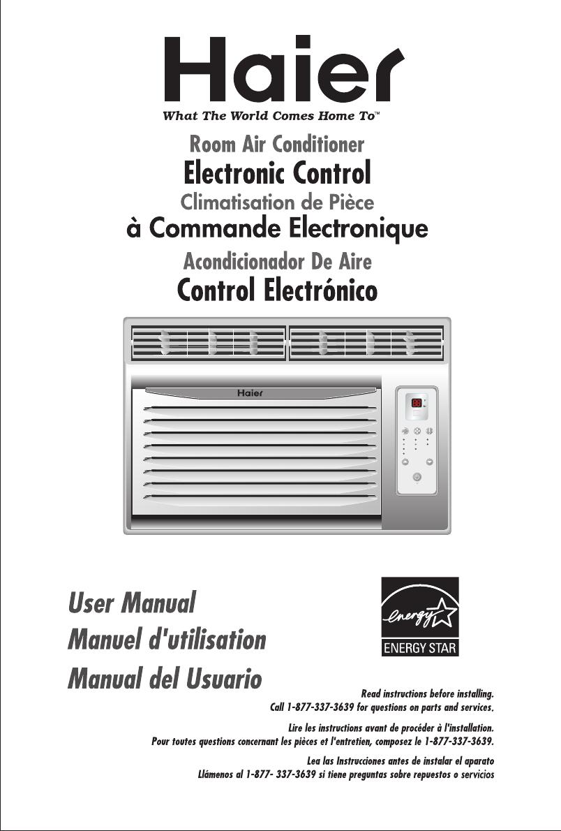 haier air conditioner hwr08xc7 user guide manualsonline com rh homeappliance manualsonline com Haier Portable Air Conditioner Manual haier split type room air conditioner operation manual