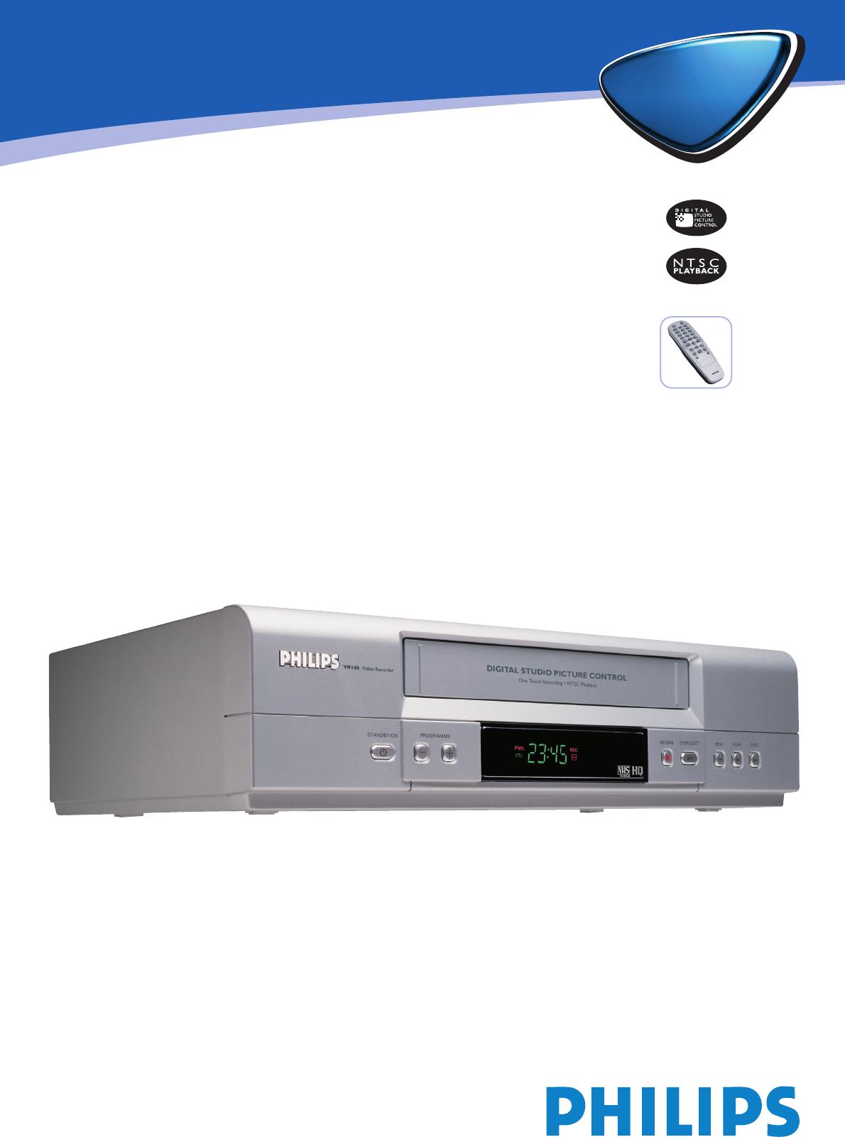 philips dvr vr1402 user guide manualsonline com rh tv manualsonline com 4 Channel DVR Manual Dish ViP722 DVR Manual