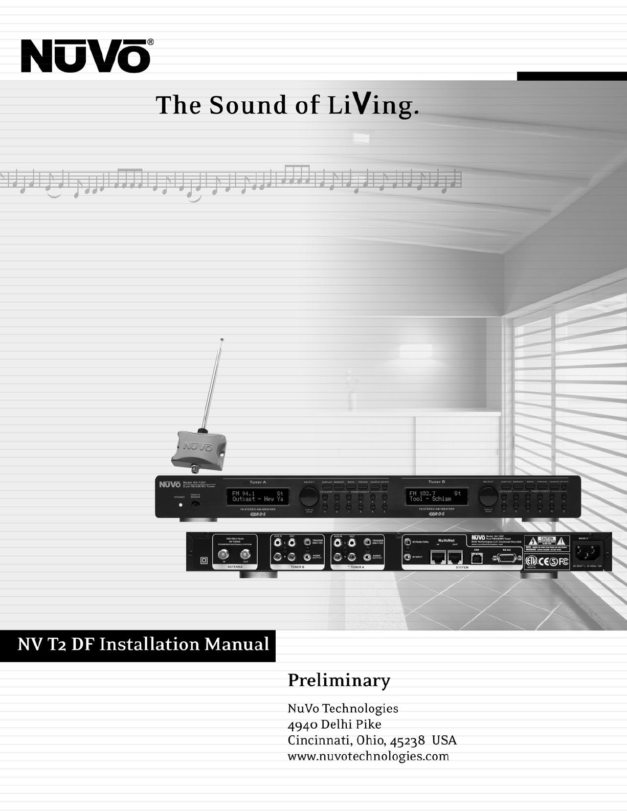 nuvo stereo system nv t2df user guide manualsonline com Nuvo Grand Concerto Nuvo Sound System