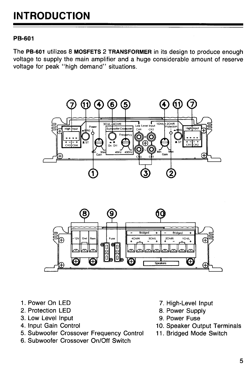 page 5 of pyramid car audio stereo amplifier pb 251 user guide rh audio manualsonline com Pyramid Car Amplifier Royal Blue Pyramid Speakers