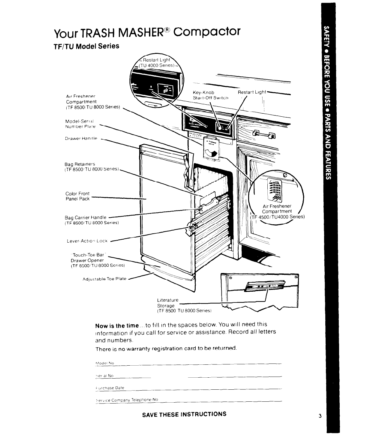 How Does A Trash Compactor Work Page 3 Of Whirlpool Trash Compactor Tu 8000 Series User Guide