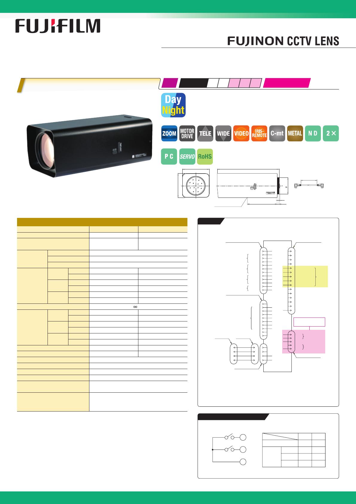 FujiFilm Camera Lens D60X12 5R3DE-ZP1 User Guide