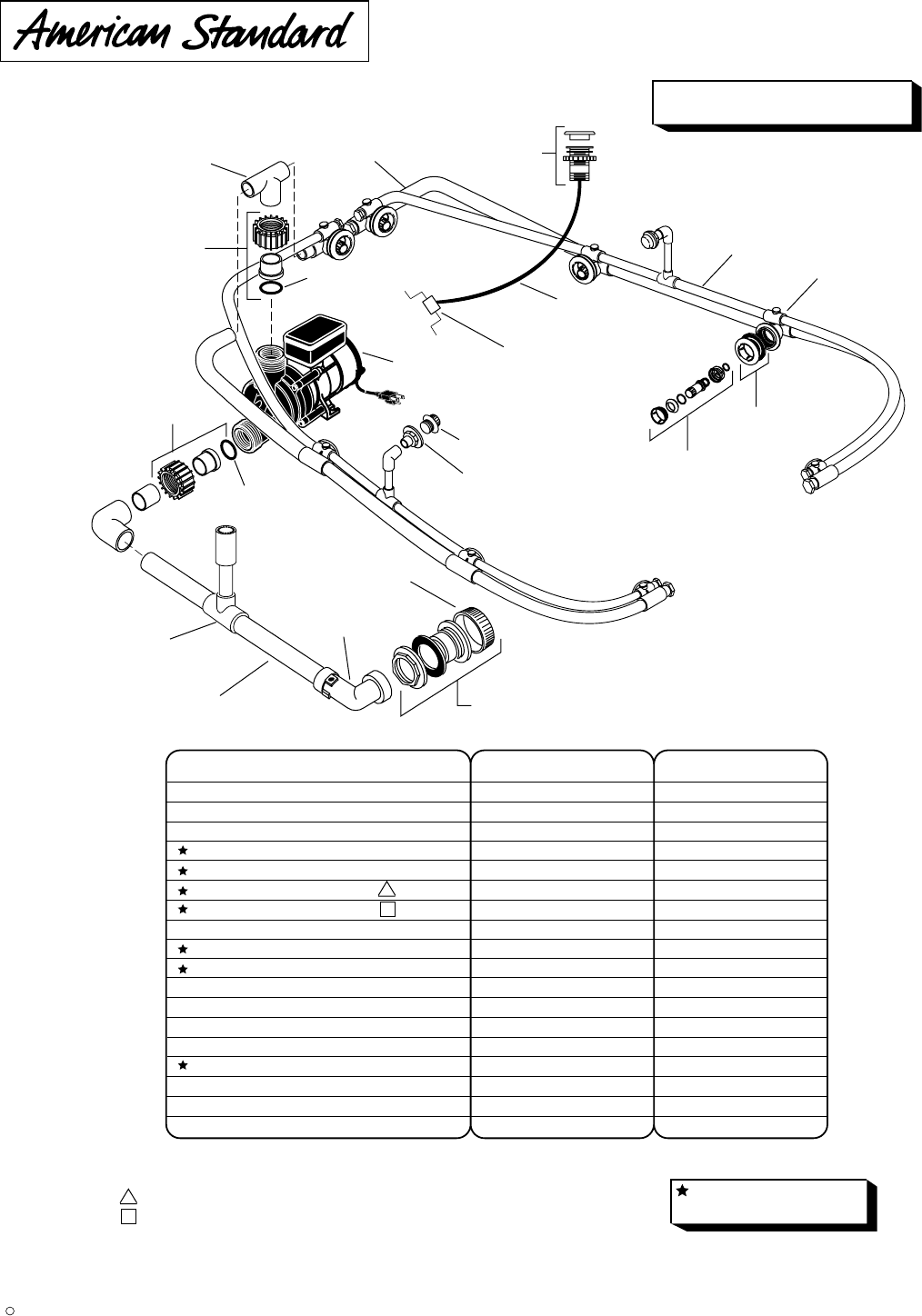 American Standard Hot Tub 751677 Xxx0a User Guide