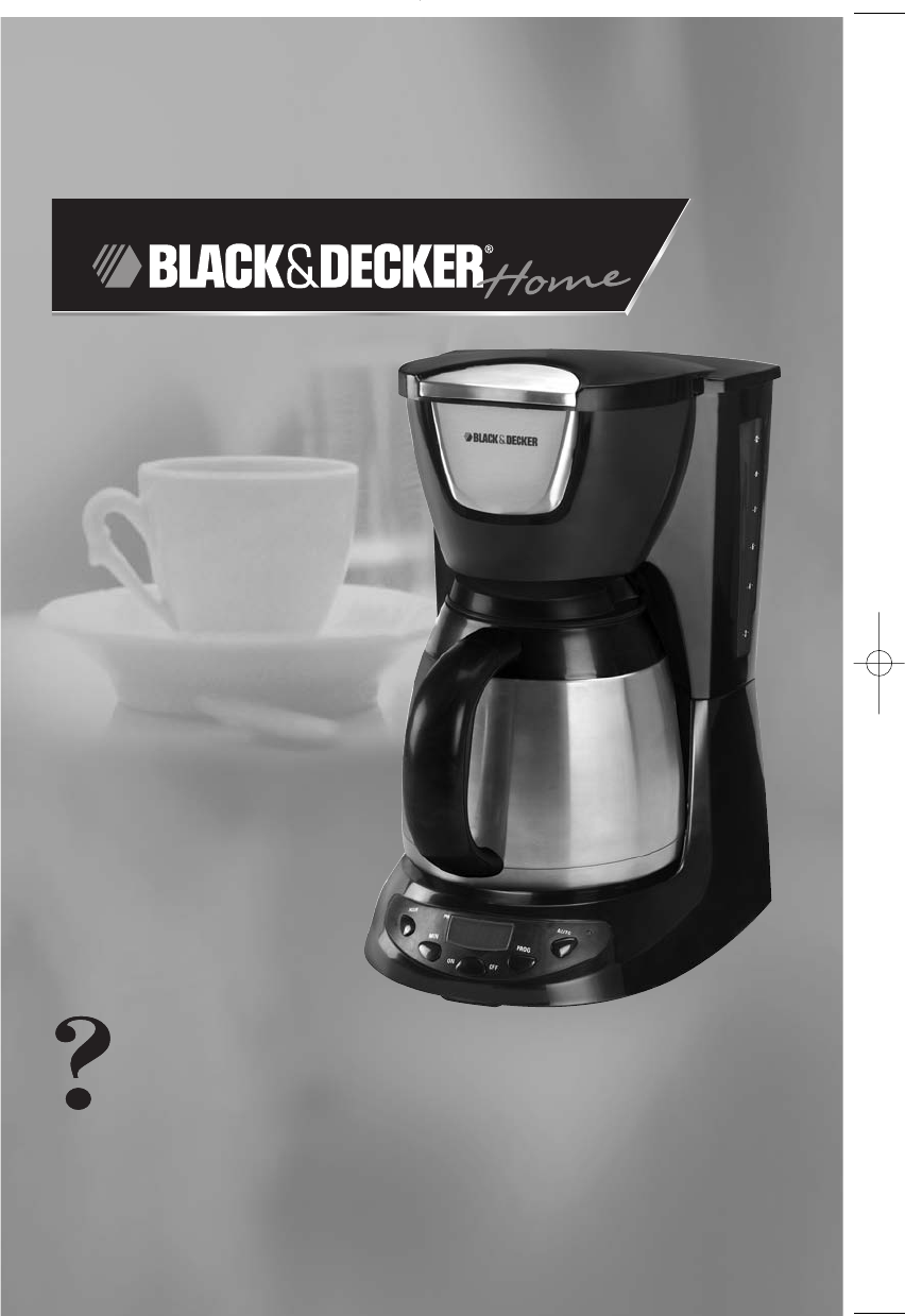 Coffee Maker Instructions : Black & Decker Coffeemaker DE790B User Guide ManualsOnline.com