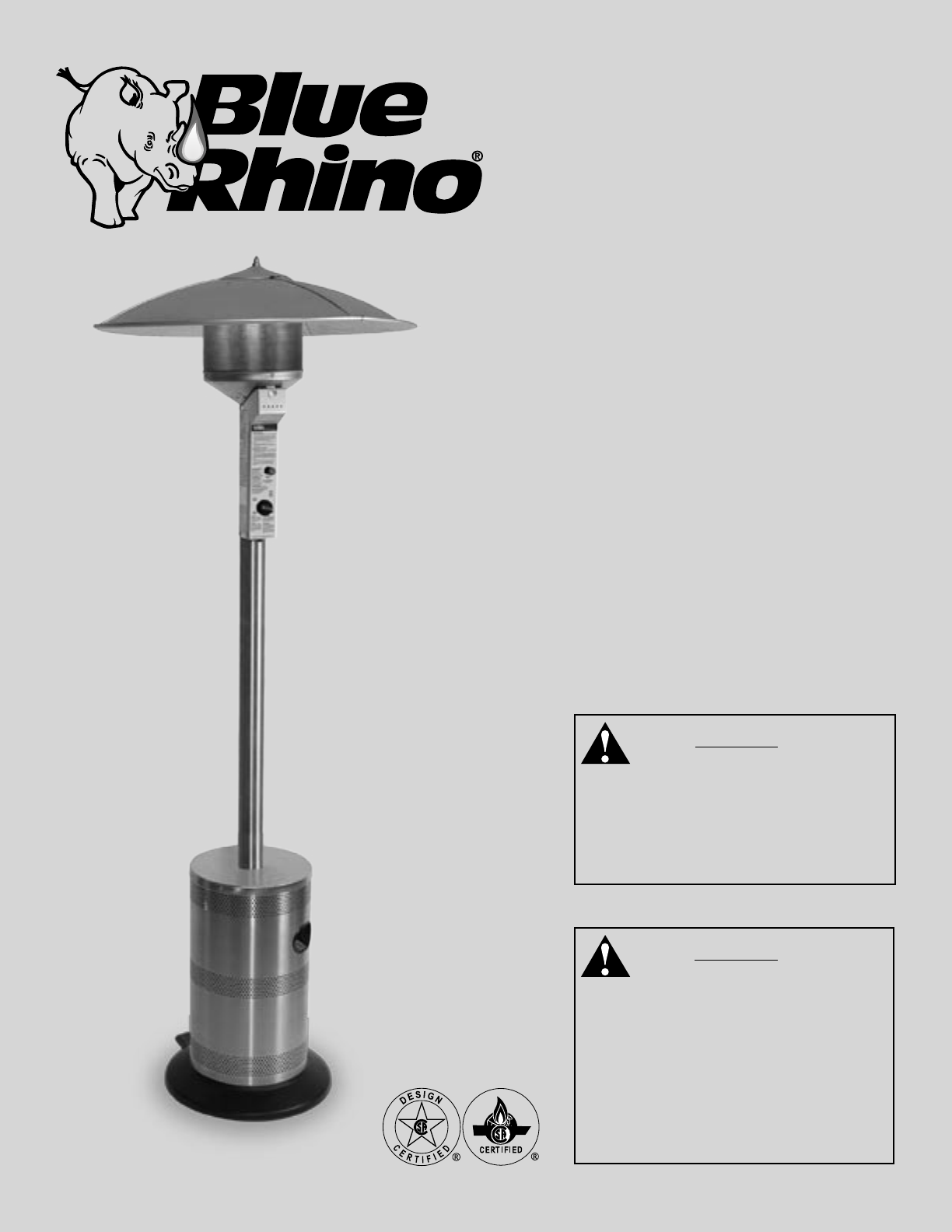 blue rhino patio heater gwu501e user guide manualsonline com rh lawnandgarden manualsonline com Gas Manual Propane Owners Patio Model Heater Sf87phlp Charmglow Patio Heater Owner's Manual