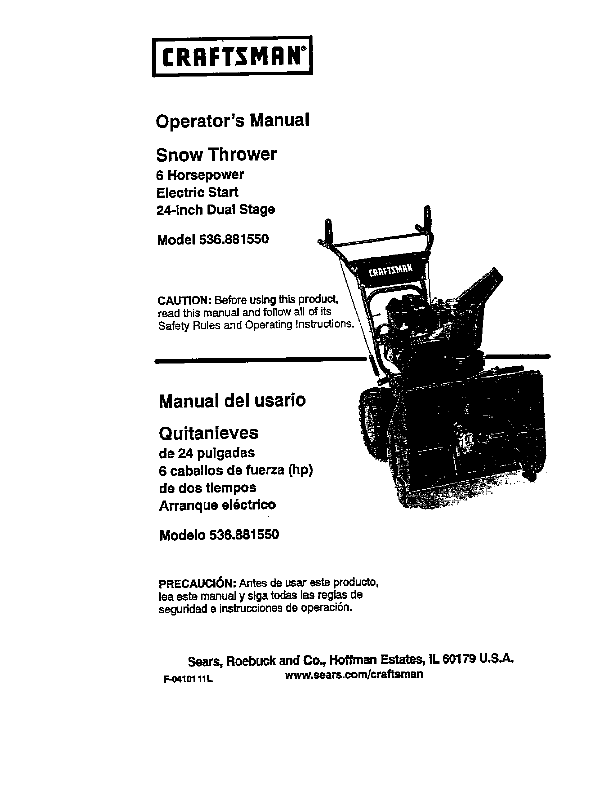 craftsman snow blower 536 88155 user guide manualsonline com rh lawnandgarden manualsonline com Craftsman Snow Blower Manual PDF craftsman snowblower manual