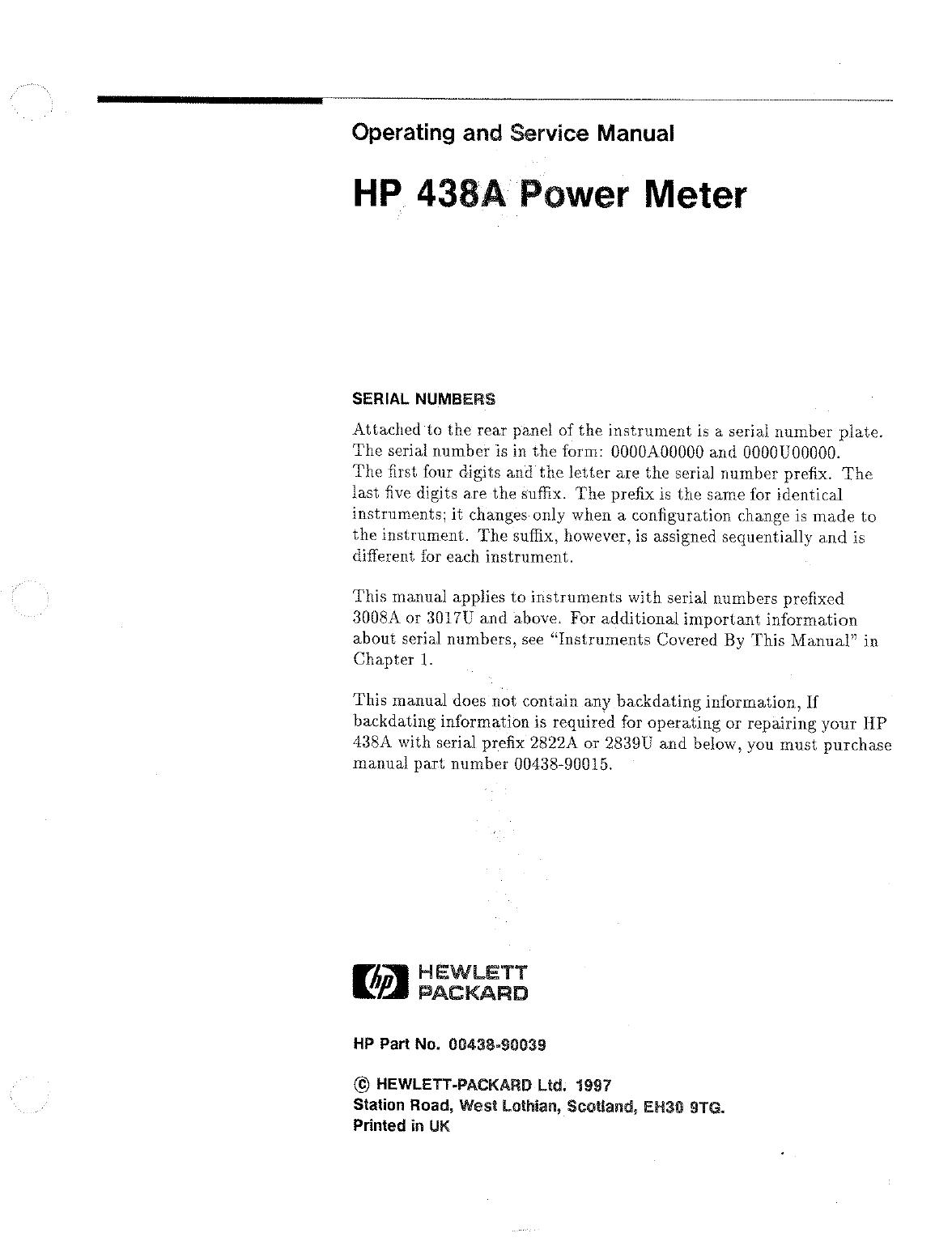 Hp 431c power meter operating & service manual $35. 00   picclick.