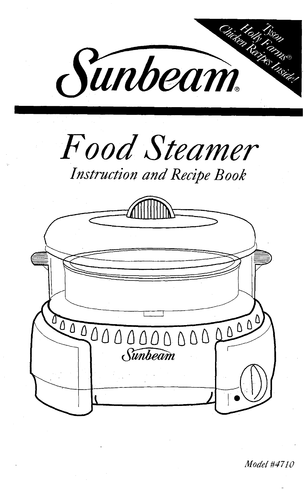 Sunbeam Electric Vegetable Steamer ~ Sunbeam electric steamer user guide manualsonline
