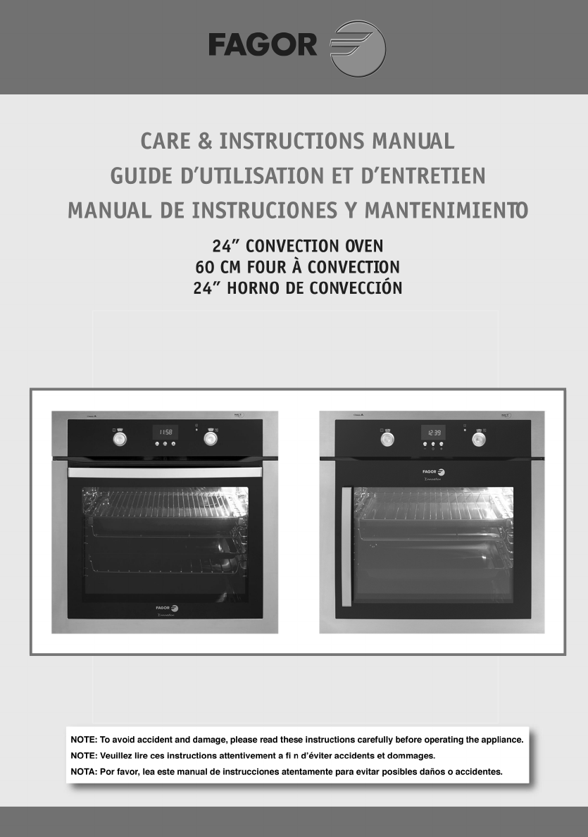 Fagor 5ha200lx 24 inch single electric wall oven with 1. 8 cu. Ft.