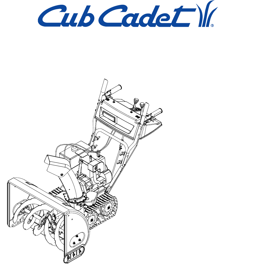 IMPORTANT: Read safety rules and instructions carefully before operating  equipment. CUB CADET CORP.