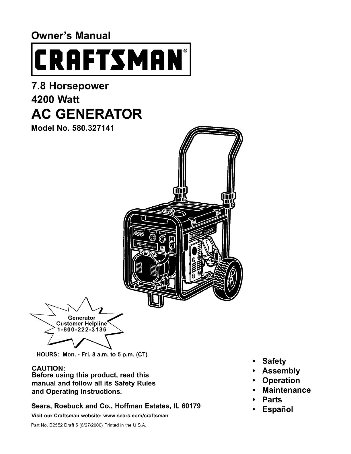 Portable Generator Engine Diagram Com