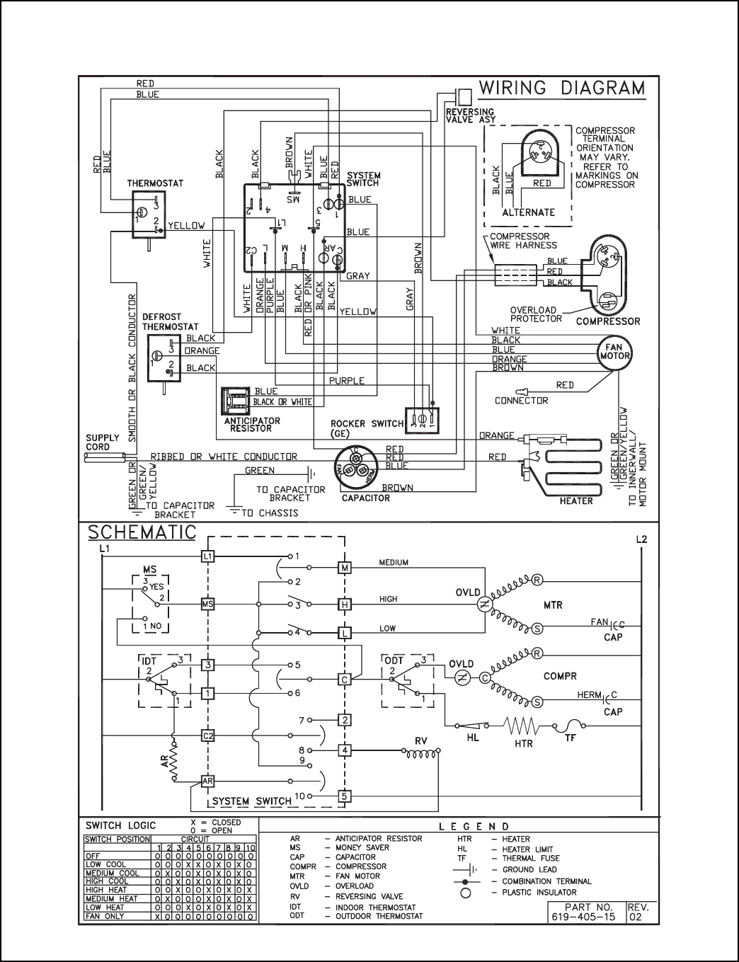 Page 34 Of Friedrich Air Conditioner 2007 User Guide Manualsonlinecom Outdoor Thermostat Wiring Diagram