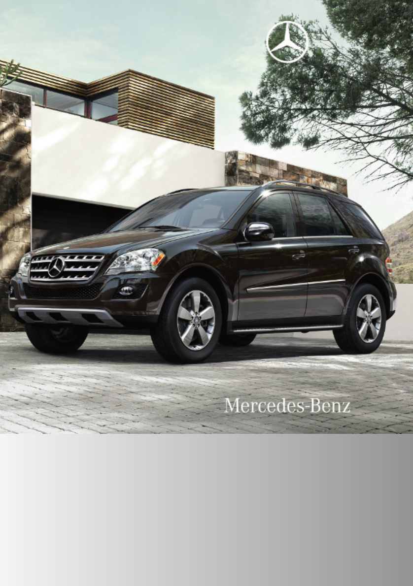mercedes benz automobile 2010 ml350 bluetec user guide